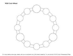 Rgb Color Wheel, Hex Values & Printable Blank Color Wheel throughout Blank Color Wheel Template
