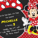 Rocking Minnie Mouse Birthday Invitation Card Template Pertaining To Minnie Mouse Card Templates