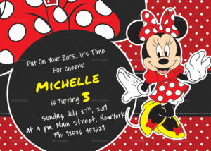 Rocking Minnie Mouse Birthday Invitation Card Template pertaining to Minnie Mouse Card Templates