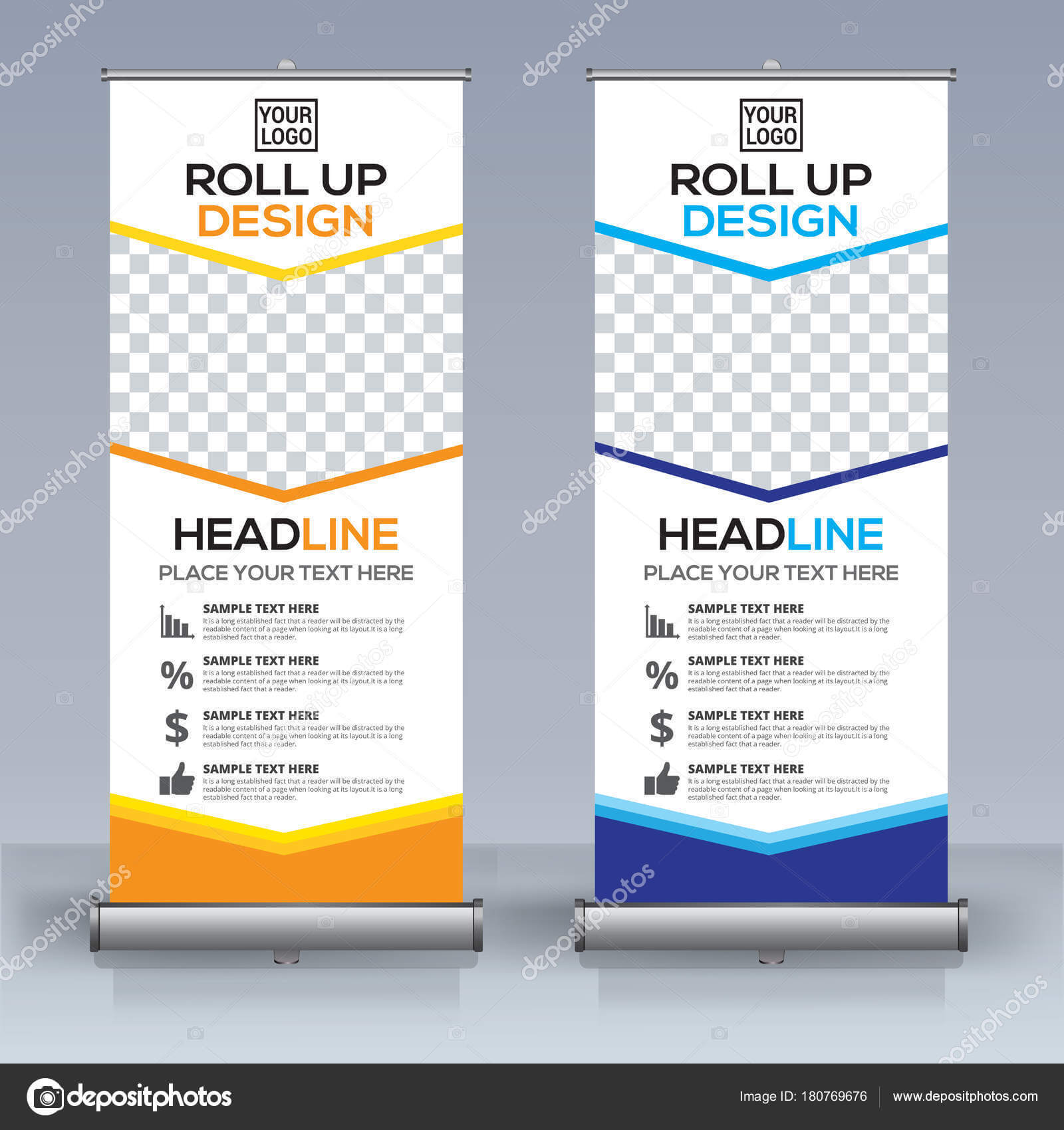 Roll Banner Design Template Vertical Abstract Background pertaining to Retractable Banner Design Templates