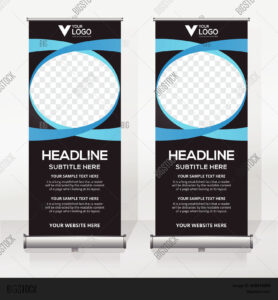 Roll Banner Design Vector & Photo (Free Trial) | Bigstock Throughout Retractable Banner Design Templates