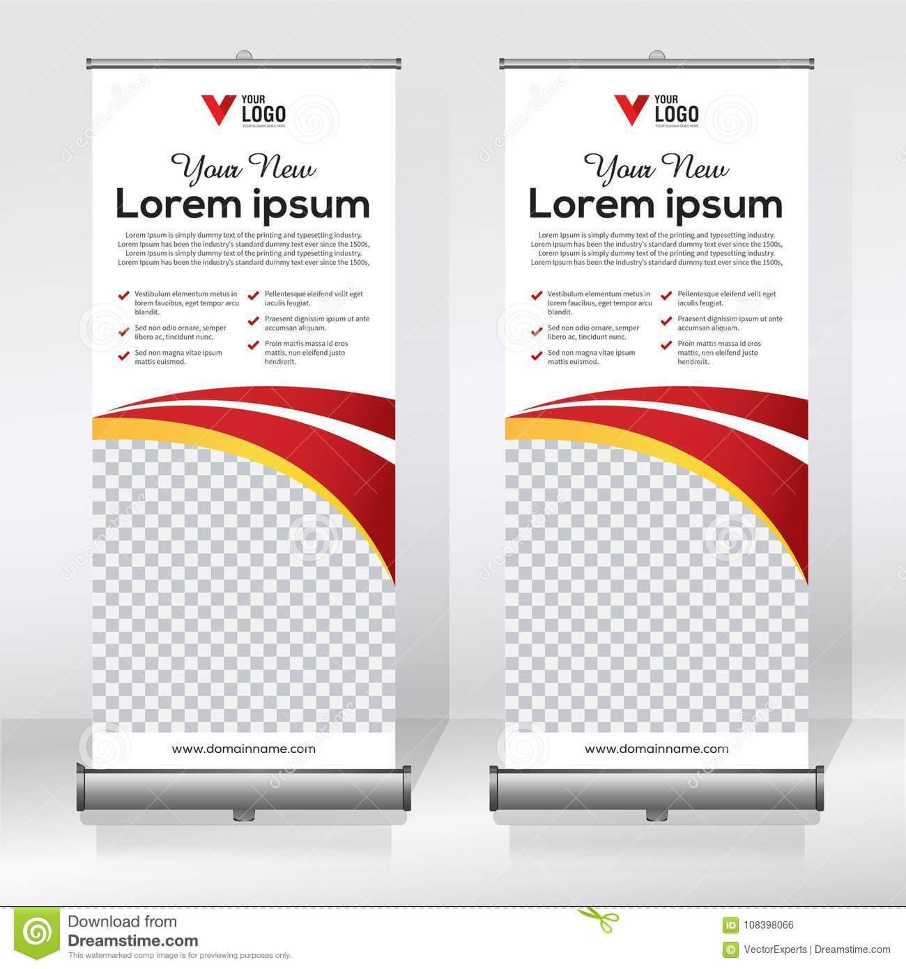 Roll Up Banner Design Template, Vertical, Abstract In Retractable Banner Design Templates