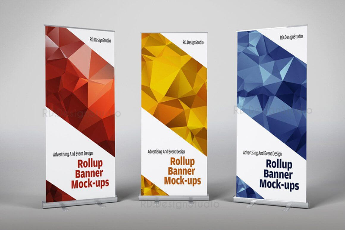 Roll Up Banner Mock Ups   Workstuff Templates   Rollup With Regard To Retractable Banner Design Templates