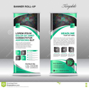 Roll Up Banner Stand Template, Stand Design,banner Template throughout Banner Stand Design Templates
