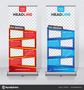 Roller Banner Design | Roll Banner Design Template Abstract For Retractable Banner Design Templates