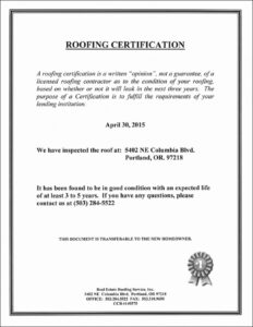 Roofing Certificate Of Completion Template Lovely Roof With Regard To Roof Certification Template