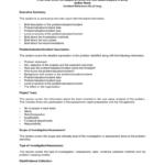 Root Cause Analysis Report: Sample Template Intended For Company Analysis Report Template