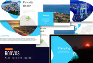 Roovos Travel And Tourism Powerpoint Template, Traveling Power Point  Template, Travel Powerpoint Presentation throughout Powerpoint Templates Tourism