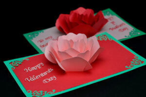 Rose Flower Pop Up Card Template intended for Diy Pop Up Cards Templates