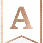 Rose Gold Banner Template Free Printable, Hd Png Download Throughout Printable Banners Templates Free