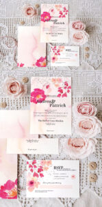 Rose Wedding Invitation Template Suite Psd – 1 Invitation with regard to Wedding Card Size Template