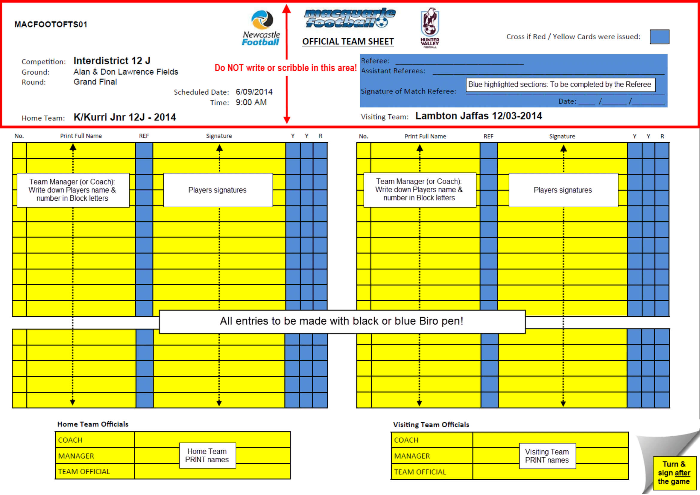 Rules - What Do The Referees Write During The Matches Inside Football Referee Game Card Template