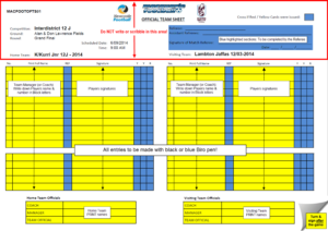 Rules – What Do The Referees Write During The Matches within Soccer Referee Game Card Template