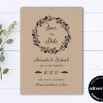 Rustic Save The Date Wedding Template – Diy Save The Date Card – Kraft  Paper Save The Date Invite – Printable Save Date – Save Our Date Inside Save The Date Cards Templates