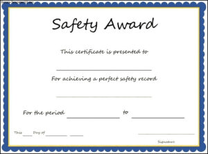 Safety Appreciation Certificates Templates – Radiodignidad pertaining to Safety Recognition Certificate Template