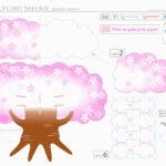 Sakura 3D Pop Up Card – Style3Dcard – Pattern 1 | Pop Up For Pixel Heart Pop Up Card Template