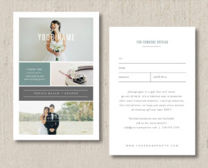 Sale Photographer Gift Card Templatesdesignbybittersweet Regarding Gift Certificate Template Indesign