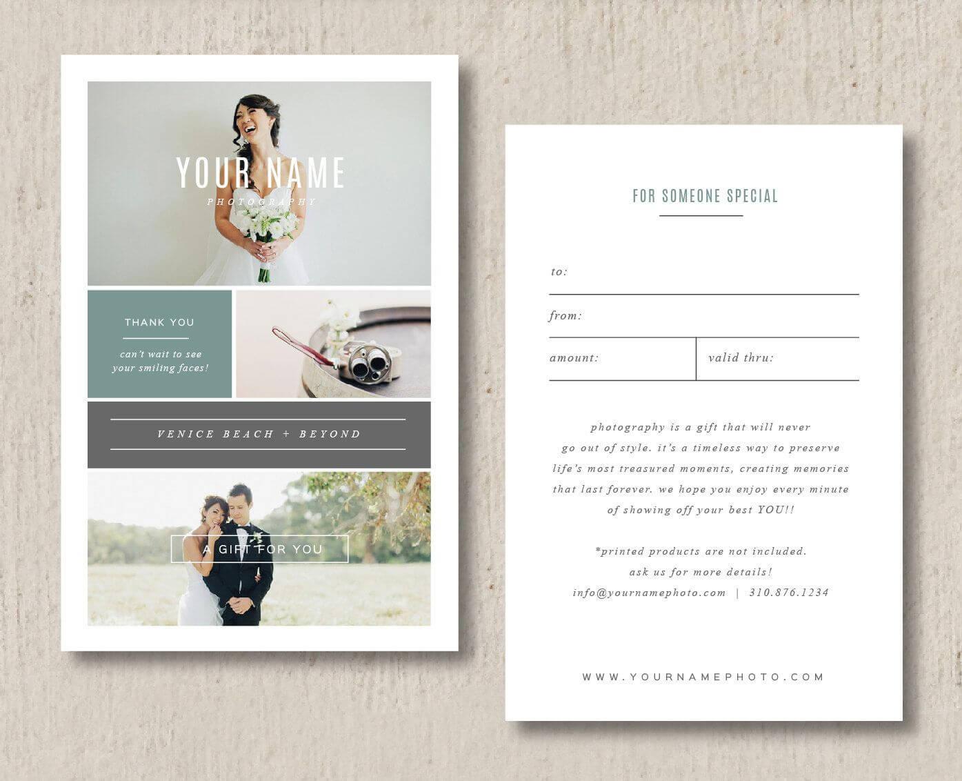 Sale Photographer Gift Card Templatesdesignbybittersweet Regarding Gift Certificate Template Indesign