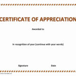 Sales Certificate Of Recognition With Sales Certificate Template