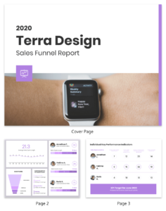 Sales Funnel Report Template – Venngage inside Sales Funnel Report Template