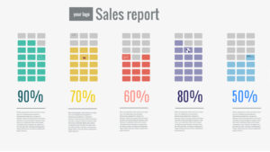 Sales Report Ple Quarterly Performance Template Powerpoint throughout Sales Report Template Powerpoint