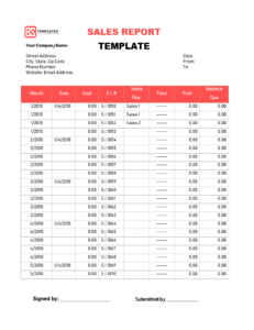 Sales Report Templates – 10+ Monthly And Weekly Sales Report with Monthly Activity Report Template