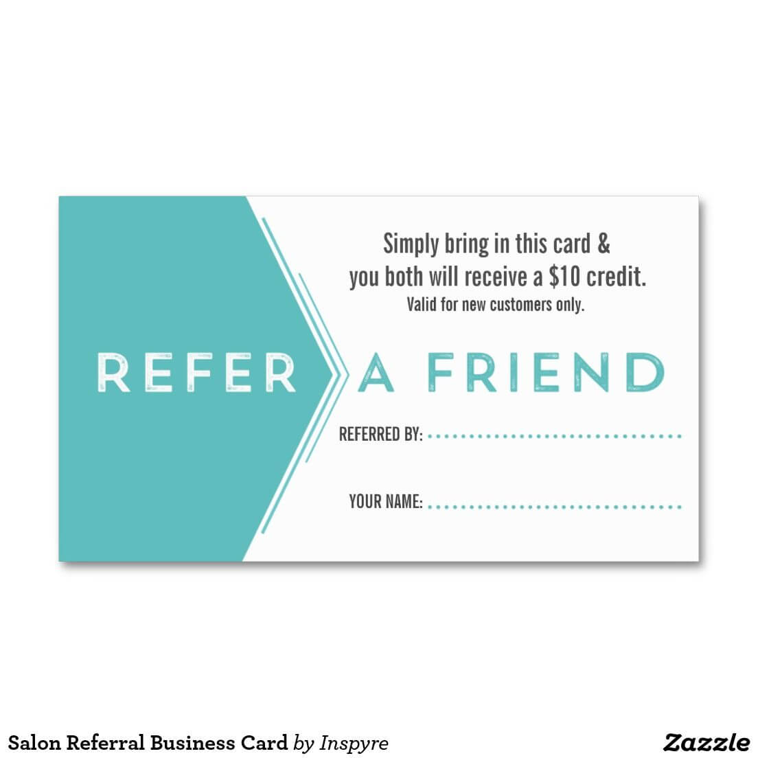 Salon Referral Business Card | Zazzle | Customer Loyalty Pertaining To Referral Card Template