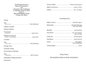 Sample 011 Church Program Template Free Ideas Printable inside Church Program Templates Word
