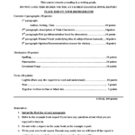 4Th Grade Book Report Template