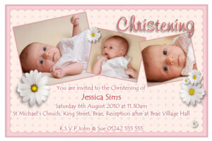 Sample Baptismal Invitation Cards | Brainmaxx regarding Baptism Invitation Card Template