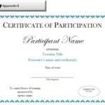 Sample Certificate Of Participation Template Regarding Sample Certificate Of Participation Template