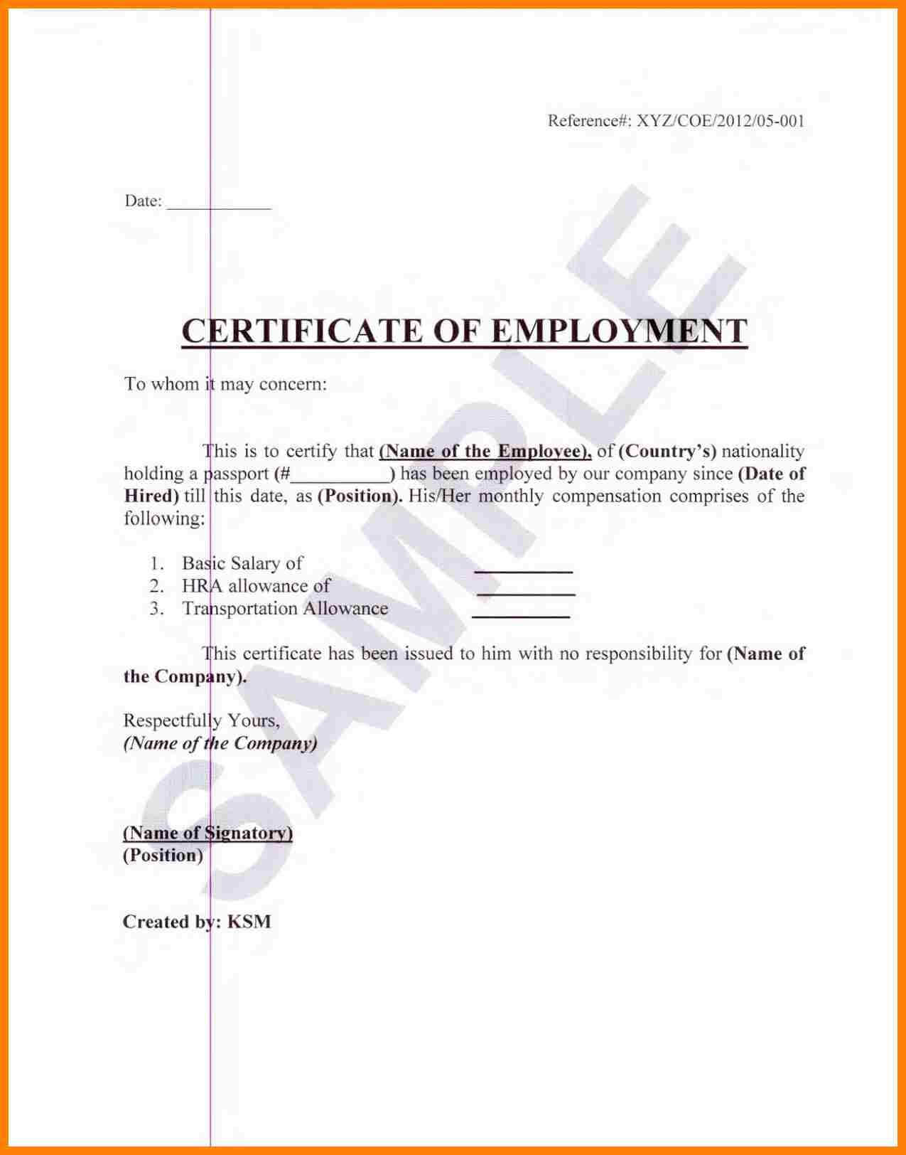 Sample Certification Employment Certificate Tugon Med Clinic Within Certificate Of Employment Template