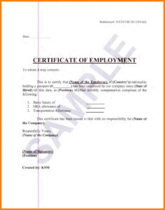 Sample Certification Employment Certificate Tugon Med Clinic within Employee Certificate Of Service Template