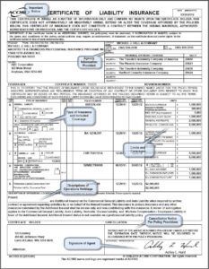 Sample Insurance Certificate – Hall & Company in Certificate Of Insurance Template