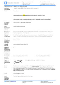 Sample Letter Of Extension Of Time For Construction (Eot Letter) in Practical Completion Certificate Template Uk