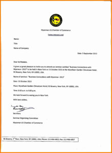 Sample Of Formal Invitation Letter For A Seminar throughout Seminar Invitation Card Template