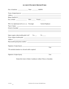 Sample Police Incident Report Template Images – Police for Medical Report Template Doc
