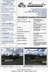Sample Reports intended for Property Condition Assessment Report Template