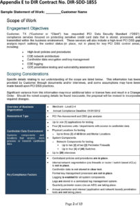 Sample Statement Of Work – Pdf throughout Pci Dss Gap Analysis Report Template