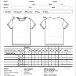 Sample T Shirt Order Form Template Microsoft Word Inside Blank T Shirt Order Form Template