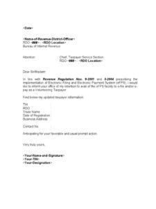Sample Template Efps Letter Intent For Individual Taxpayer For Corporate Secretary Certificate Template