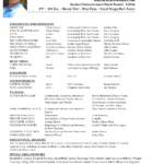 Sample Theater Resume 10 Musical Theatre Cia3India Com How throughout Theatrical Resume Template Word