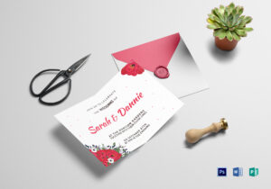 Sample Wedding Invitation Card Template throughout Sample Wedding Invitation Cards Templates