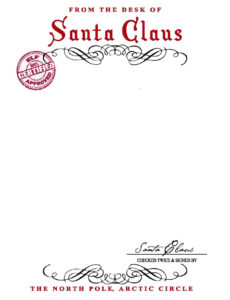 Santa Claus Letterhead.. Will Bring Lots Of Joy To Children In Santa Letter Template Word