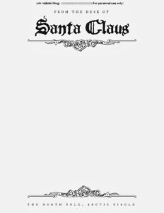 Santa Letter Template Free Printable :: Thanks For The Milk throughout Blank Letter From Santa Template
