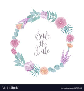 Save The Date Card Template Decorated With Round for Save The Date Cards Templates