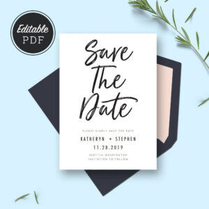 Save The Date Card Templates, Wedding Save The Dates in Save The Date Cards Templates