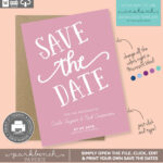Save The Date Printable Template For Microsoft Word – Carla For Save The Date Templates Word