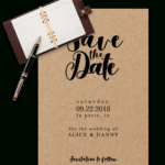 Save The Date Templates For Word [100% Free Download] with Save The Date Template Word