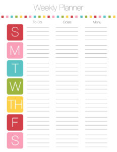Schedule Template Ekly Planner Word Menu Unique Printable for Weekly Meal Planner Template Word